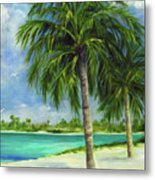 Tropical Beach Two Metal Print