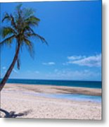 Tropical Blue Skies And White Sand Beaches Metal Print