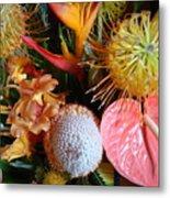 Tropical Bouquet Metal Print