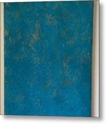 Tropical Palms Canvas Teal Blue - 16x20 Hand Painted Metal Print