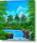 Tropical Falls Metal Print