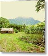 Tropical Farm Metal Print