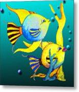 Tropical Fish Fun Metal Print