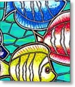 Tropical Fish Swim Metal Print