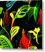 Tropical Flock Metal Print