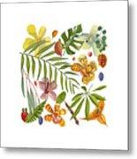 Tropical Flora Metal Print