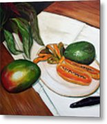 Tropical Fruit Metal Print