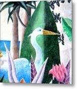 Tropical Goose Metal Print