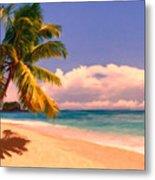 Tropical Island 6 - Painterly Metal Print