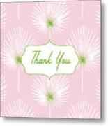 Tropical Leaf Thank You- Art By Linda Woods Metal Print