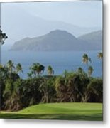 Tropical Links - Nevis West Indies Metal Print