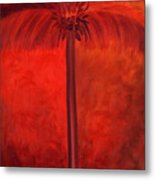 Tropical Mango Palms Metal Print