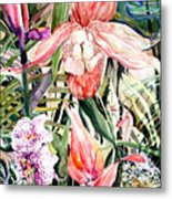 Tropical Orchids Metal Print