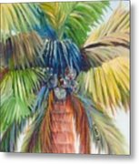 Tropical Palm Inn Metal Print