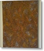 Tropical Palms Canvas Copper Silver Gold - 16x20 Hand Painted Metal Print