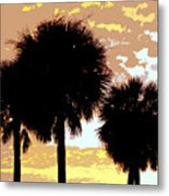 Tropical Palms Work Number Four Metal Print
