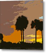 Tropical Palms Work Number Three Metal Print