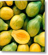 Tropical Papayas Metal Print