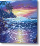 Tropical Seascape Metal Print