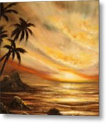 Tropical Sunset 65 Metal Print