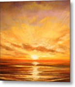 Tropical Sunset 75 Metal Print