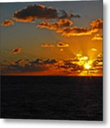 Tropical Sunset Metal Print