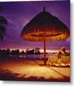 Tropical Tahitian View Metal Print