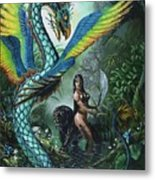Tropical Temptress Metal Print