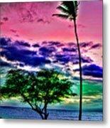 Tropical Trees Metal Print
