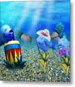 Tropical Vacation Under The Sea Metal Print