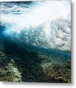 Tropical Wave Curl Metal Print