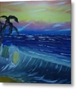 Tropical Wave Metal Print