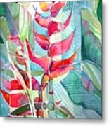 Tropicana Red Metal Print by Mindy Newman