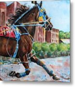 trotter standardbred Horse at the Little Brown Jug Metal Print