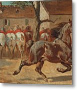 Trotting A Horse Metal Print
