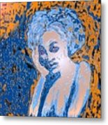 Troubled Woman Metal Print