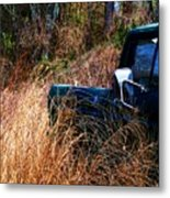 Truck In The Feild Metal Print