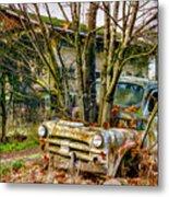 Truck N Tree Metal Print