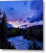 Truckee River Sunset Metal Print