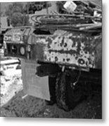 Trucks And Sky Metal Print