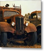 Trucks Under Smoke Metal Print
