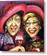 Trudy And Grace Play Dressup Metal Print