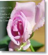 True Friendship Is Like A Rose Metal Print