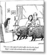 Truffle Hogs Metal Print