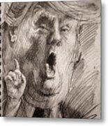 Trump A Dengerous A-hole Metal Print