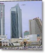 Trump Palace Tajmahal Hotel Atalantic Beaches And Board Walk America Photography By Navinjoshi At  Metal Print