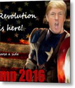 Trump Revolution Metal Print by Guy  Cannon