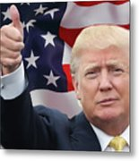Trump Thumbs Up 2016 Metal Print