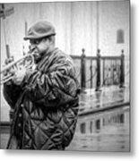 Trumpet In The Rain 2 - Nola Metal Print