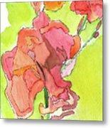 Trumpet Vine Blossom Metal Print